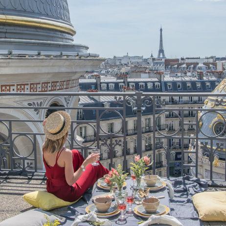 Inspiration : pique-nique chic sur les toits du Printemps Haussmann
