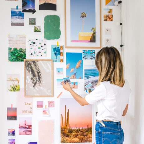 DIY mur de cadre façon moodboard géant