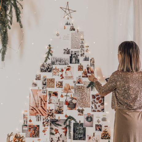 DIY : Sapin de Noël mural comme un moodboard
