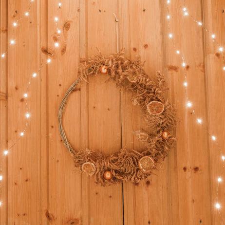 DIY : couronne de Noël naturelle en fougères séchées